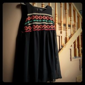 Love Reigns Flowy Embroidered Dress